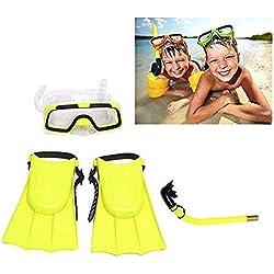 Gearmax Premium Masque et Tuba - Kits de Randonnée Aquatique / Plongée pour enfant