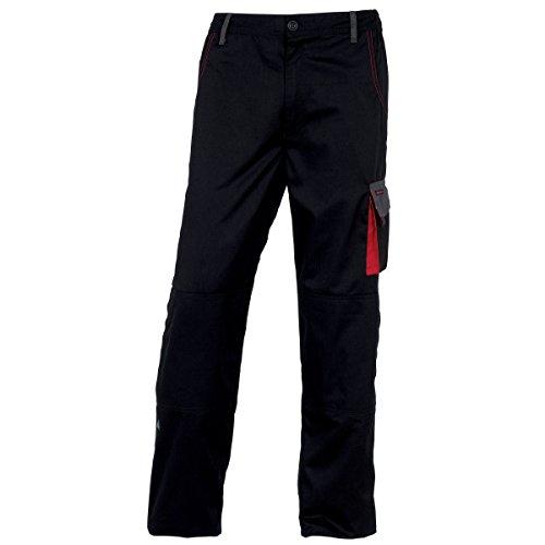 Delta Plus - D-Mach - Pantaloni da Lavoro - Uomo (L) (Nero/Rosso)