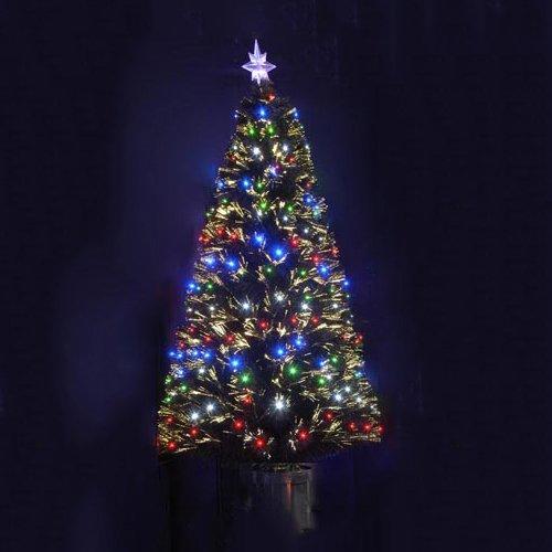 Stella Albero Di Natale Luminosa.Albero Di Natale 150 Cm Sintetico Artificiale Fibre Ottiche Led