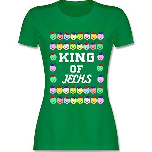 Karneval & Fasching - King of Jecks - S - Grün - L191 - Damen T-Shirt ()