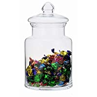 SOLAVIA Large Clear Glass Jar & Lid Storage Container Pasta Sweet Candy Height 33cm Libby 5 litres