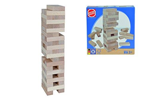 Eichhorn 100072307 - Balance Stapelspiel, Geschicklichkeitsspiel, 54-tlg., FSC 100% Zertifiziertes Buchenholz, Made in Germany