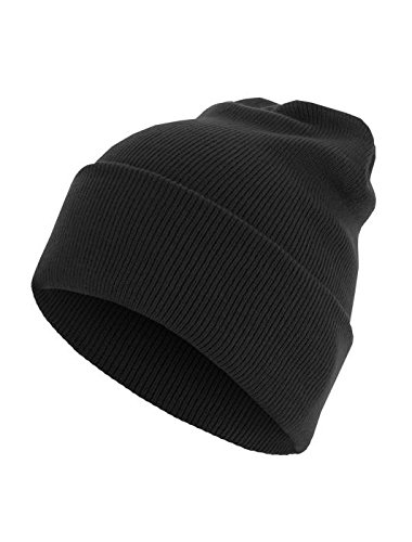 Beanie Basic Flap Long Version black