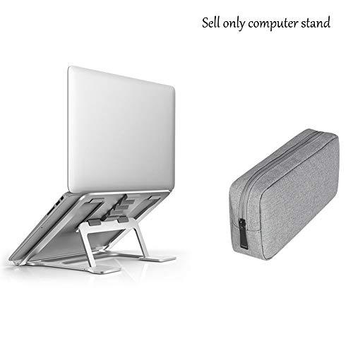 THOR-BEI Laptopständer, tragbar und leicht, 6-Fach verstellbar für 11-17 Zoll - Silber -notebookkühler (Ausgabe : B) -