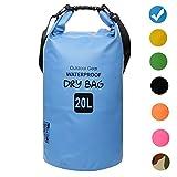 ZhaoCo Wasserdichter Packsack, 5L/10L/20L/30L Wasserdichte Tasche sack PVC Dry Bag für Kayaking, Bootfahrt, Kanufahren, Fischen, Rafting, Schwimmen, Kampieren, Snowboarding Wassersport(Blau, 20L)