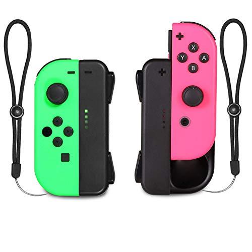 [2 Piezas] KINGTOP Cargador para Mando de Nintendo Switch Recargable Empuñadura de carga para Joy-Con Joy Grip Cargador Manija Comodidad para N-Switch Joy-Con con Cable Tipo C y Indicador LED de Carga