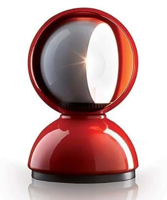 Artemide Eclisse Lampada Tavolo Rosso
