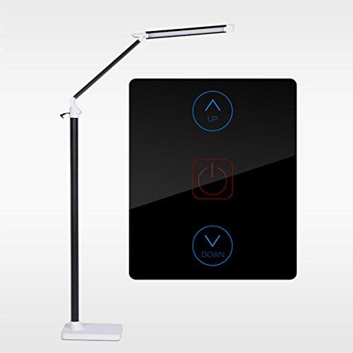 Justierbares Halogen-licht ($stehlampe Berührung LED-Fußboden-Licht, Dimmable justierbares Falten, 5 Helligkeits-Niveau, justierbarer Arm für das Lernen des Schlafzimmer-Büro-Schlafsaal-Hotel (Farbe : SCHWARZ-Dimming))