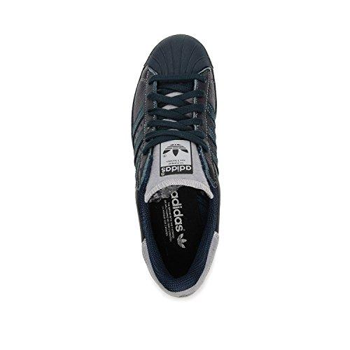 adidas Superstar 80s Varsity Jacket Herren Sneaker Dunkelblau (Petrol Ink/Matte Silver)