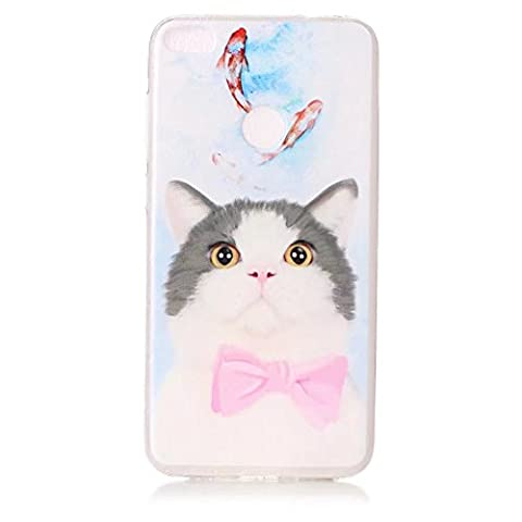 Huawei P8 lite (2017) cover Case,TXLING Transparent Soft Gel TPU Clear Silicone Cover Bumper with Cute Pattern,[Shock-Absorption] [Anti-Scratch] [Precision Fit] Protective Back Shell for Huawei P8 lite (2017) -