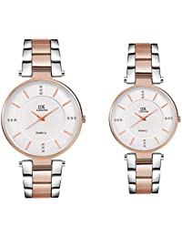 IIK Collection Quartz Movement Analog Watch for Couple Women's & Men's Wristwatch Set (IIK-033M-1033W)