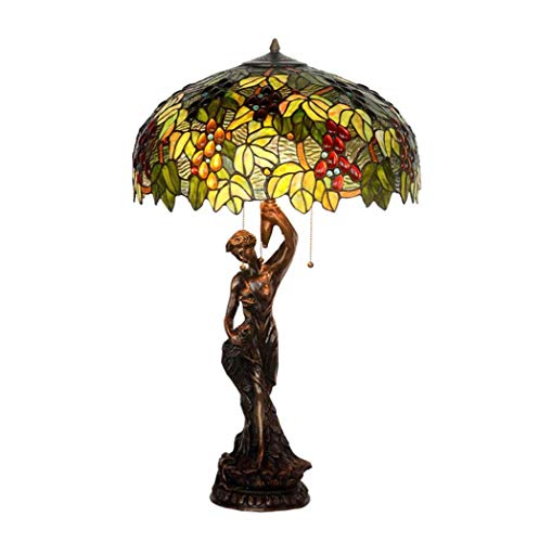 Tiffany Stehlampe Kupfer (20 Zoll Tiffany Stil Tischlampe Ganz Kupfer Schreibtisch Lampen Wohnzimmer Dekoration Nachttischlampen Europäischen Pastoralen Arbeitszimmer Lesen Glasmalerei Tischleuchten YDYG)
