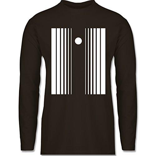 Karneval & Fasching - Doppler Effekt - Longsleeve / langärmeliges T-Shirt für Herren Braun