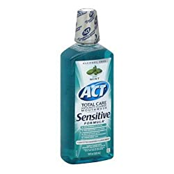 Act Total Care Anticavity Fluoride Mouthwash Sensitive Formula, Mild Mint - 18 Oz, 2 Pack