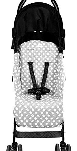 Fundas BCN ® - F95/93002 - Colchoneta para silla de paseo Maclaren Quest ® 2013-17 - Fun Vintage Star