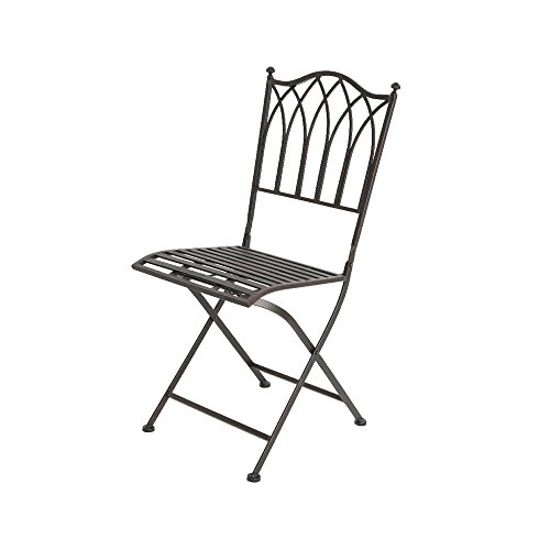Group EDM Outdoor Folding Iron Chair Model Bordeaux
