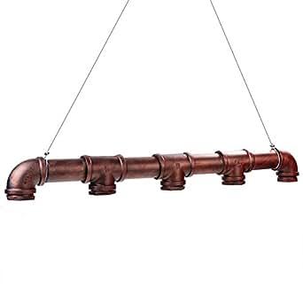 Fuloon luminaire de suspension 5 edisons lustre r tro en for Eclairage suspension exterieur