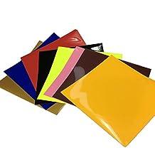 Carta Trasferibile per Tessuti Carta Transfer per Tessuti Scuri PU Fogli Trasferibili a Caldo Carta (Vinyl Artigianato Segni)