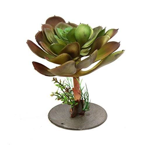 DealMux plástico terrario ornamento de flores de la planta de decoración para reptiles y anfibios