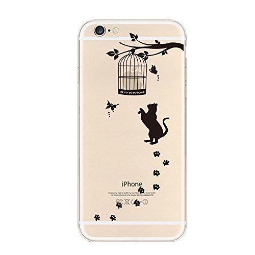 iPhone 6 Plus / 6S Plus Custodia , Keyihan Interessante Divertente Modello Leggero Sottile Morbido Trasparente Chiaro TPU Silicone Protettiva Caso per Apple iPhone 6S Plus (Giocare a Pallacanestro Lay Gabbia per Uccelli