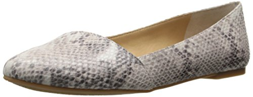 Lucky Brand Archh Cuir Chaussure Plate Grey