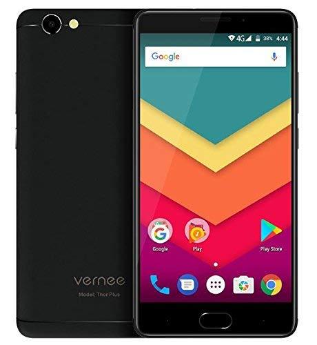 Vernee Thor Plus - 5,5 Zoll AMOLED Bildschirm 4G Android 7.0 Smartphone, 6200mAh Akku in 7,9mm sichtbare Dicke, Octa Core 3GB RAM 32GB ROM, Full Metal Body, 8MP + 13MP Kamera, - Schwarz