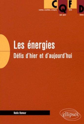 Les énergies : Défis d'hier et d'aujourd'hui par Nadia Hamour
