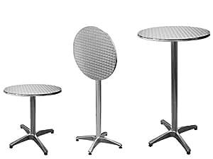 bistrotisch stehtisch bartisch tisch alutisch balkontisch gartentisch partytisch aus alu. Black Bedroom Furniture Sets. Home Design Ideas