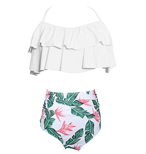 9696c4ac5e49 Costumi da Bagno Donna Vita Alta Fascia Push Up Imbottito Bikini Spiaggia Costumi  da Mare Halterneck