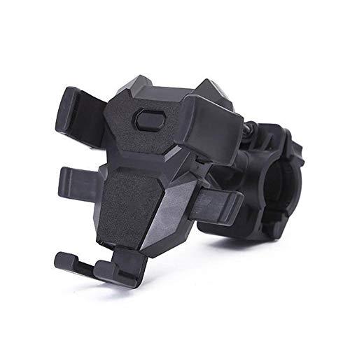 aheadad Fahrrad-Handyhalterung, 360 ° Drehbarer Anti-Shake-Motorrad-Smartphonehalter Für Reitsportzubehör Mit Festem Rahmen