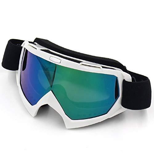 MaxAst Sonnenbrille Motorrad Brille Nacht Arbeitsbrille Brillenträger Glänz Weiß Multilcolor