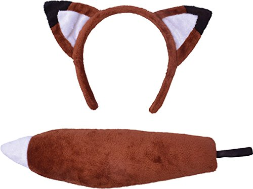 Fox Set Ears and Tail costume Kids Fancy Dress (Fox Schwanz Und Ohren)