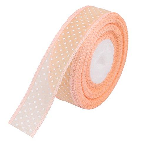 sourcingmap® Mariage décoration intérieure, Cadeau Motif du point polyester rouleau ruban satin Artisanat 20 Yards long