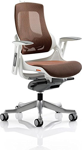 Top Dynamic Zure Executive Mesh Chair with Arms – Orange Discount