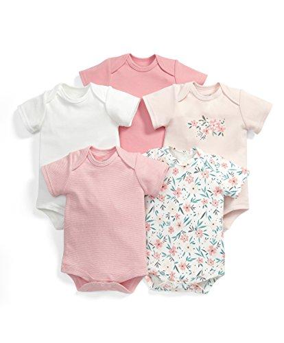 mamas-papas-5pk-s-s-floral-bforwardslashst-body-bimbo-multicoloured-0-3-mesi-pacco-da-5