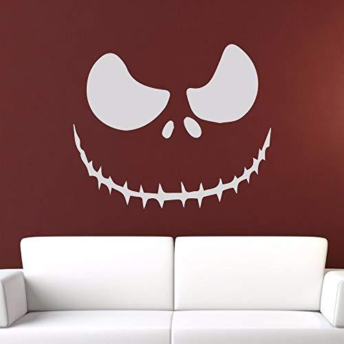 yiyitop Jack o Lantern Halloween Gruseliges Gesicht Wandaufkleber für Wohnzimmer Festival Vinyl Aufkleber Schlafzimmer Urlaub Kunst Aufkleber 50 * 42 cm