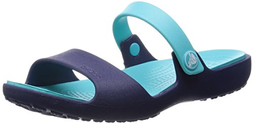 Crocs New Cleo Sandal W Sandali a punta aperta, Donna,Blu (Blau (Nautical Navy/Pool 4EP)), 36/37