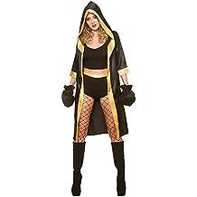 Wicked Costumes Disfraz de boxeador Mujer adulta negra/oro sexy knockout (talla x-