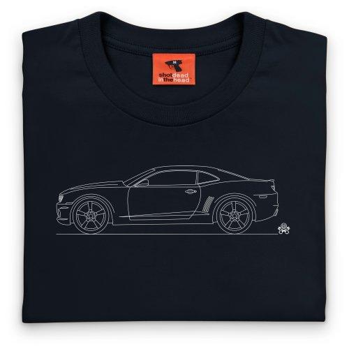 PistonHeads Camaro SS Muscle Car T-Shirt, Herren Schwarz