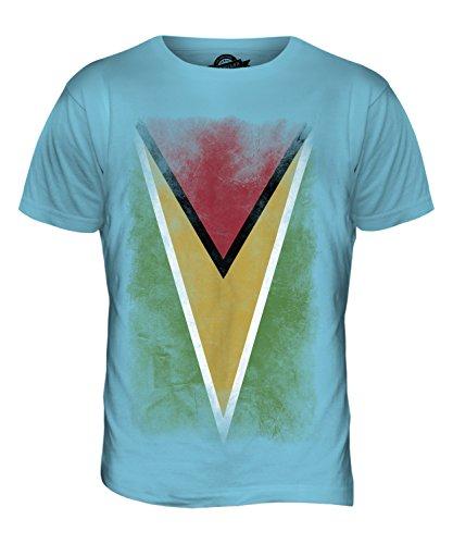 CandyMix Guyana Verblichen Flagge Herren T Shirt Himmelblau