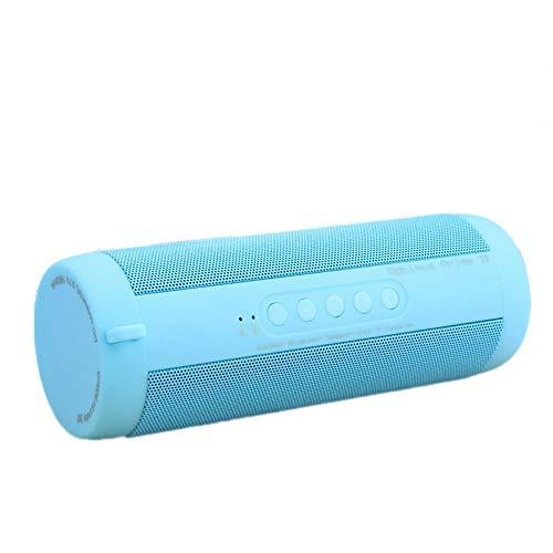CAOQAO Enceinte Bluetooth Portable Speaker,avec Lampe De Poche,ExtéRieur sans Fil ImperméAble Haut-Parleur Audio StéRéO Basse Subwoofer Soundbox,Compatible avec IPhone,Windows,Ou Android,Bleu Ciel
