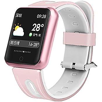 Pulsera deportiva,TechCode Relojes inteligentes Oxígeno sanguíneo Monitor de presión arterial Monitor ritmo cardíaco de