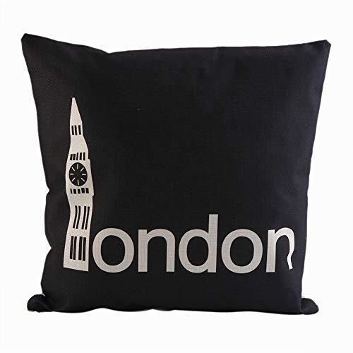 Yonhchop 1 unid London Style Digital Print Case Moda Sofá Funda de...