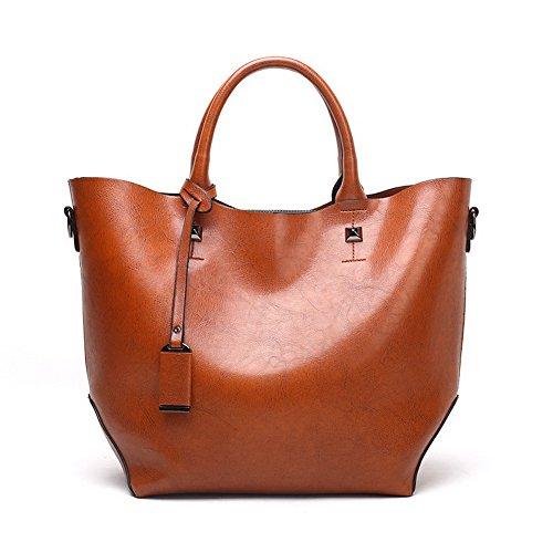 AgooLar Women's Mode Umhängetaschen Pu Beiläufig Schultertaschen, Braun (Marke Taschen Louis Vuitton)