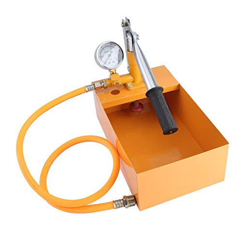 IanqAzwibvd-UK Handkraftprüfpumpe, Universal-Wasserleitungs-Leckagetester, manuelle Wasserpumpe, Hydraulikdruckprüfpumpe gelb -