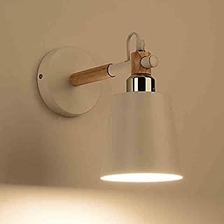 AMOS Skandinavische eiserne Nachttischlampe Wohnzimmer Schlafzimmer Wandleuchte (Farbe : Weiß)