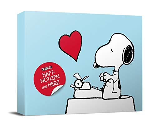 Peanuts Haftnotizen mit Herz: Notizzettel-Box