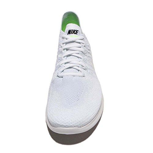 Nike Herren Free Run Flyknit 2017 Laufschuhe Bianco / Bianco-puro Platino-nero