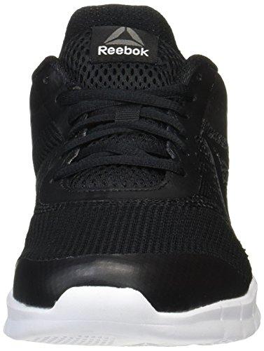 Lite Noir Corra negro Reebok Blanco Carbón Impresión Plata Homme Gris Funcionamiento qHXw4