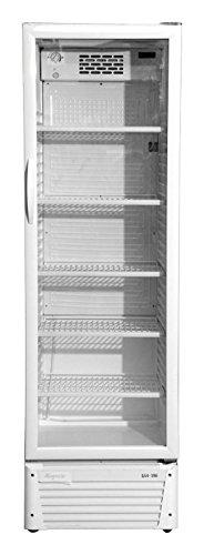 Kühlschrank mit Glastür 386 Liter Flaschenkühlschrank Getränkekühlschrank Gewerbekühlschrank Gastrokühlschrank 600 x 590 x 1970 mm